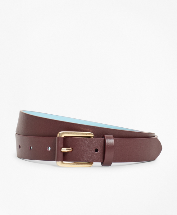 Leather Waist Belt Wine