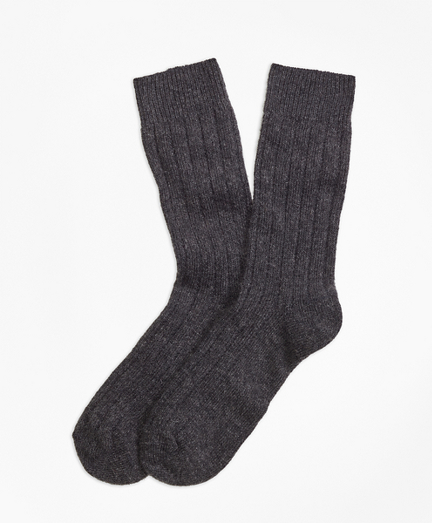 Ribbed Cashmere Dress Socks