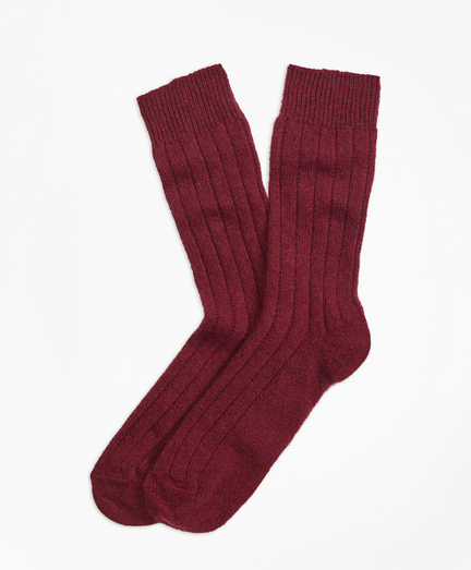 Ribbed Cashmere Dress Socks