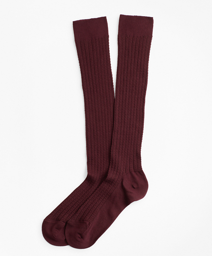 Cable-Knit Knee Socks