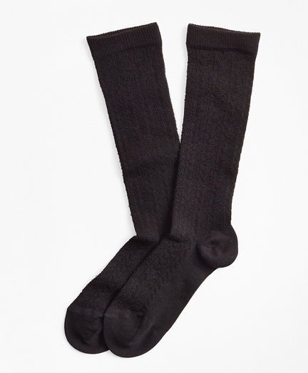 Stretch Cotton Herringbone-Knit Trouser Socks
