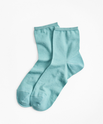 Cotton-Silk-Blend Ankle Socks