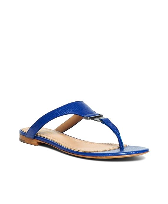 Tumbled Calfskin Thong Sandals Blue