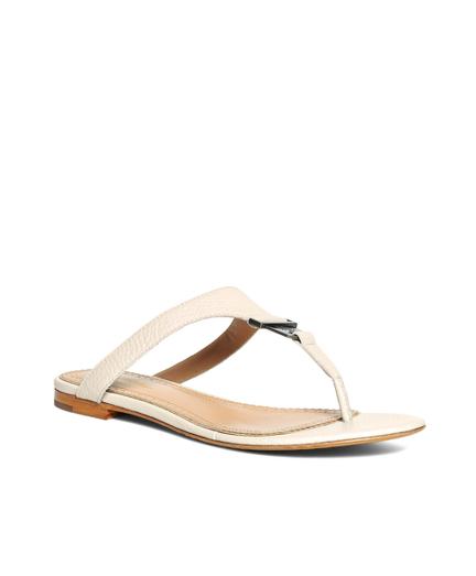 Tumbled Calfskin Thong Sandals