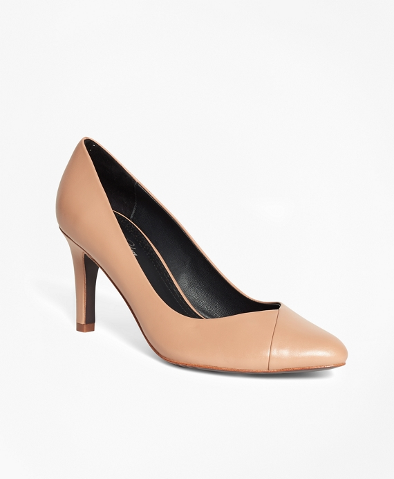 Leather Pumps Nude