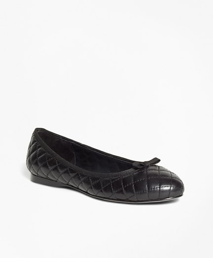 Quilted Leather Flats