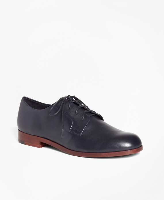 Leather Derby Shoes Navy