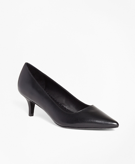 Leather Point-Toe Pumps