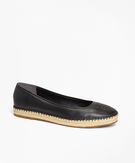 Leather Espadrille Flats
