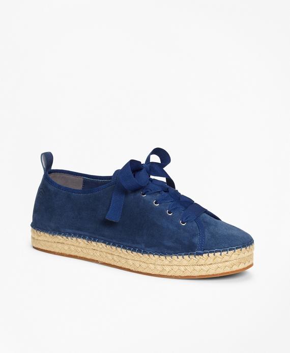 Suede Espadrille Sneakers Navy