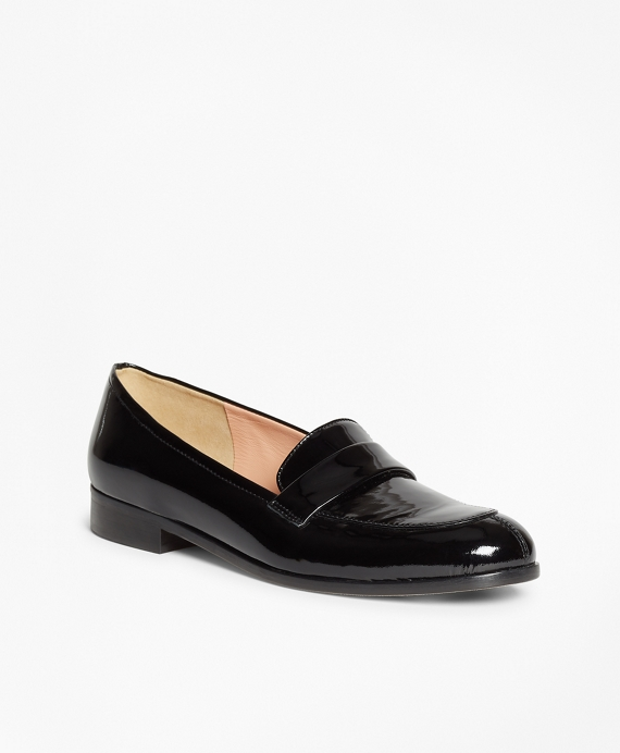 Patent Leather Loafers Black