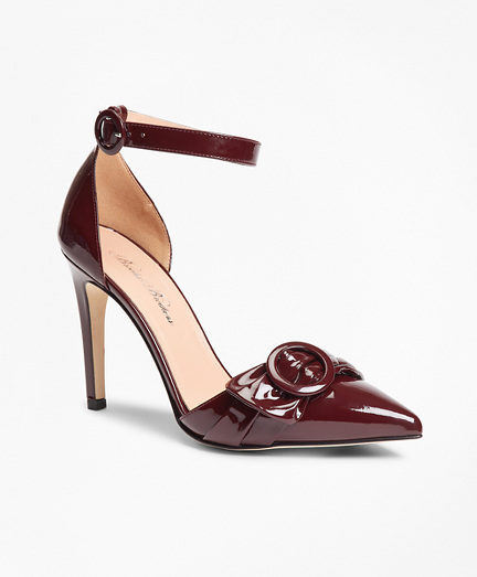 Patent Leather Point-Toe Sandals