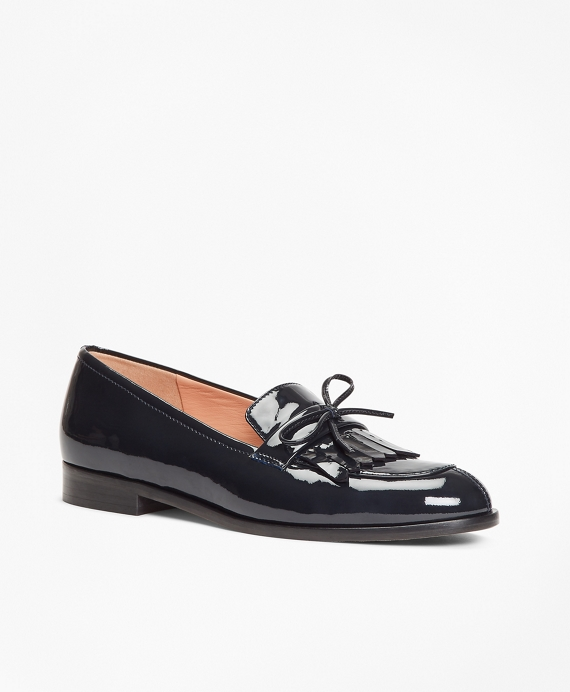 Patent Leather Kiltie Loafers by Brooks Brothers