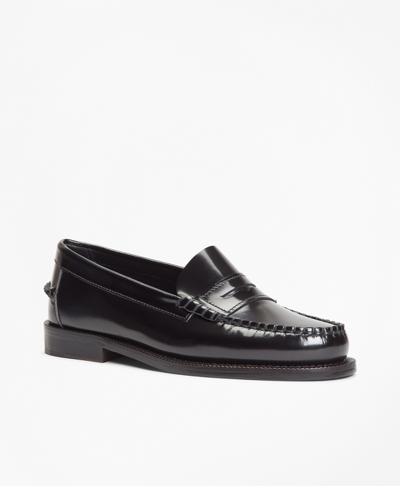 Leather Penny Loafers Black