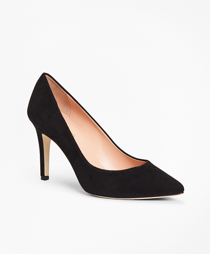Suede Point-Toe Pumps
