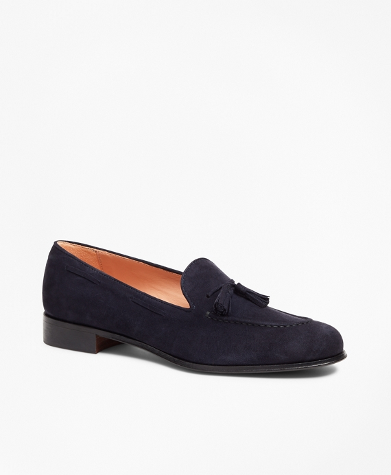 Suede Tassel Loafers Navy
