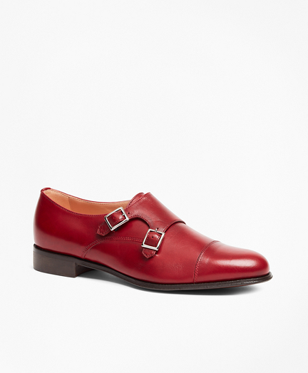 Leather Cap-Toe Monk Straps