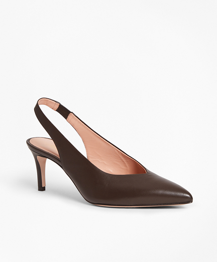 Leather Sling-Back Pumps
