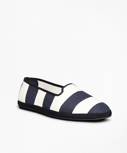 Striped Canvas Flats