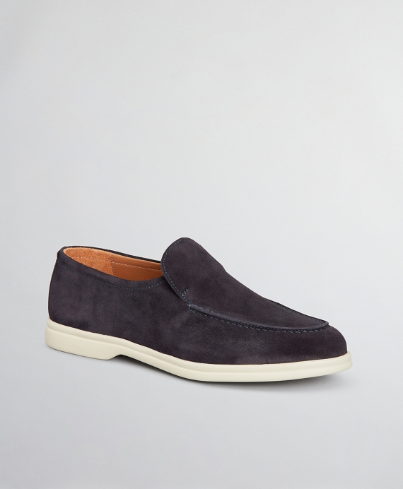 The Brooks Brothers Voyager 1 Shoe - Suede Navy