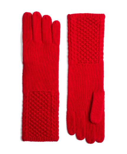 Cable Knit Cashmere and Wool Gloves