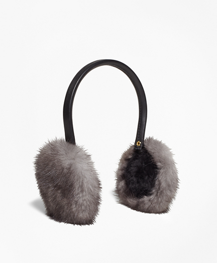 Leather Banded Mink Earmuffs