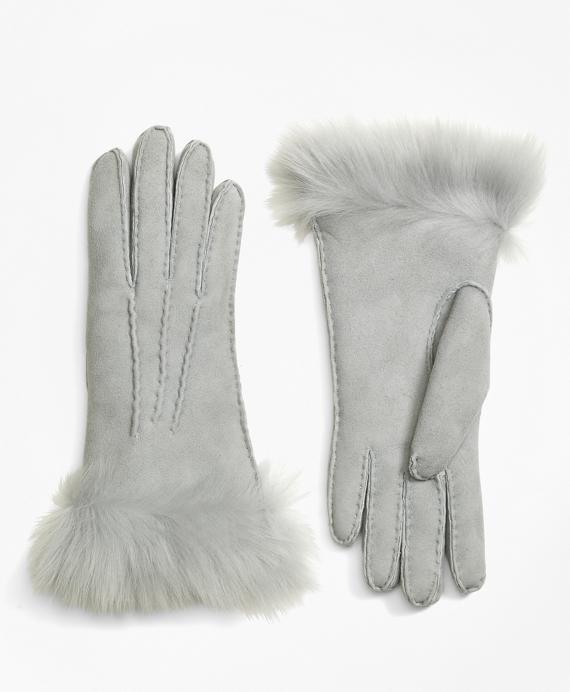 Shearling Gloves Grey