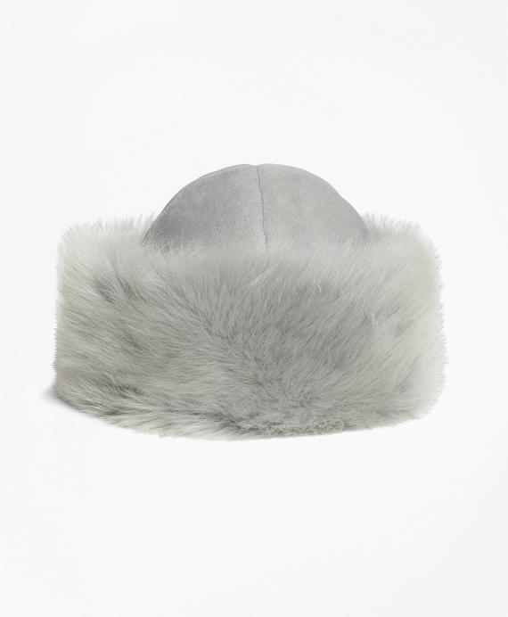 Shearling Hat Grey
