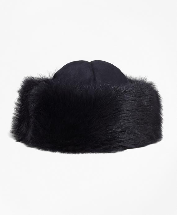 Shearling Hat Navy