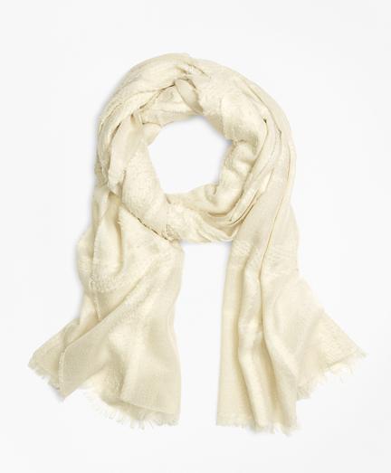 Wool Blend Oversized Plaid Oblong