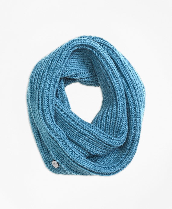 Merino Wool Knit Snood Teal