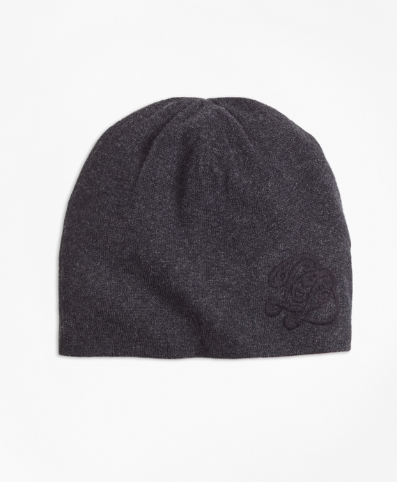 Cashmere Knit Beanie Charcoal