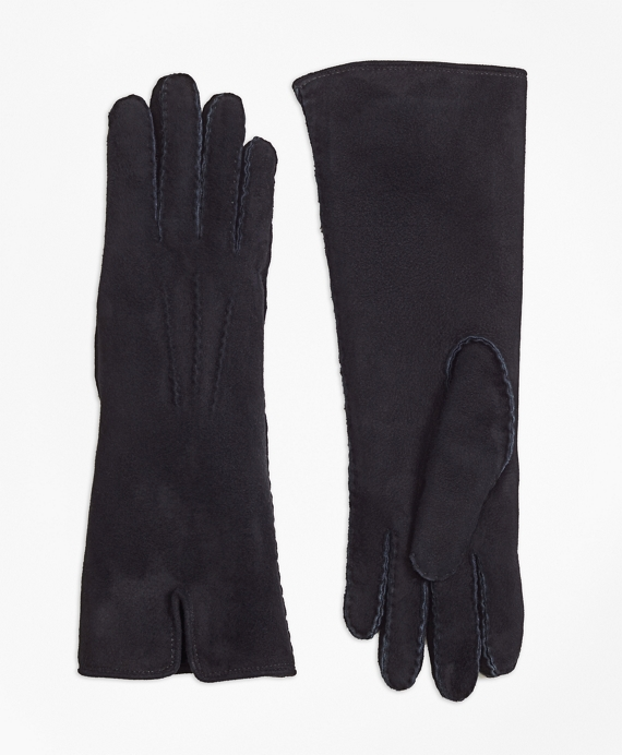 Shearling Fur Gloves Black