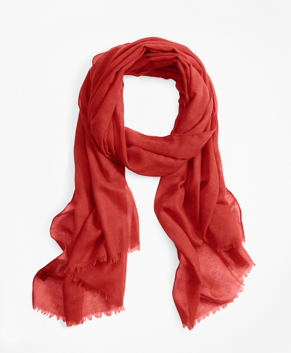 Wool Oblong Scarf Red