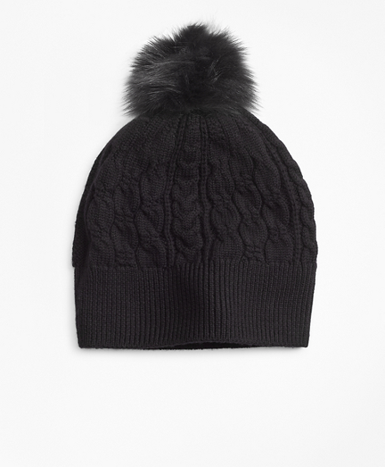 Cable-Knit Merino Wool Hat