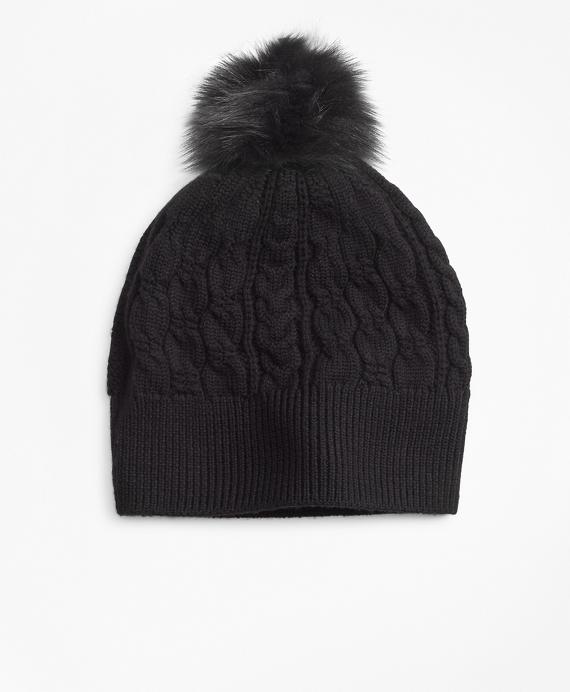 c8564238936 Cable-Knit Merino Wool Hat Black