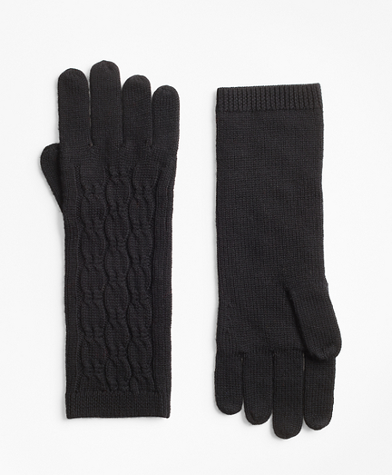 Cable-Knit Merino Wool Gloves