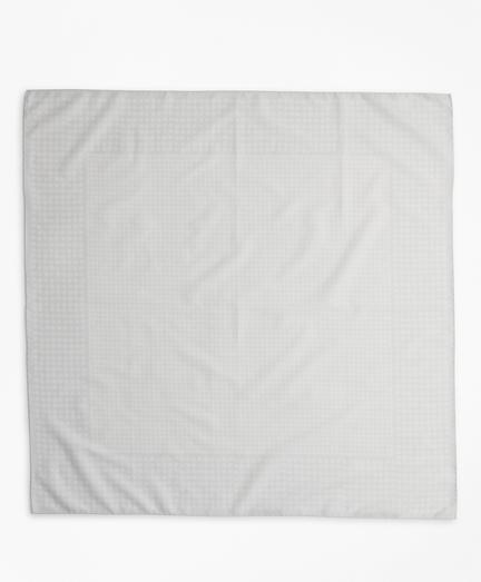Polka-Dot Cotton Square Scarf