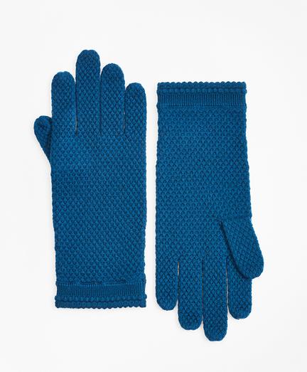 Waffle-Knit Merino Wool Gloves