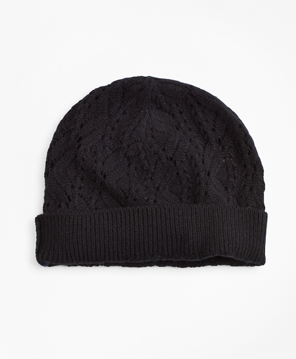 Pointelle Cable-Knit Cashmere Hat