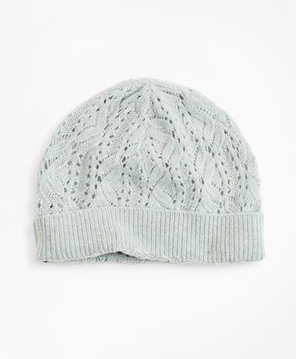 Pointelle Cable-Knit Cashmere Hat