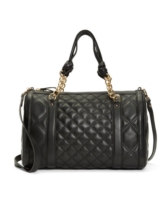 Quilted Calfskin Medium Barrel Bag Black