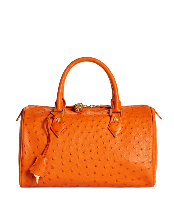 Ostrich Barrel Bag Orange