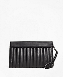 Leather Quilted Clutch