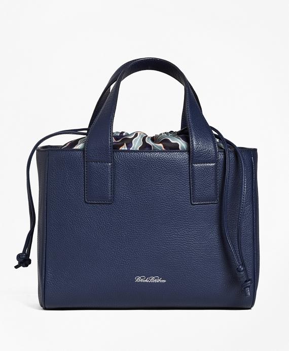 Leather Sharon Shopper Bag Navy