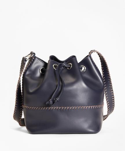 Leather Daria Bucket Bag