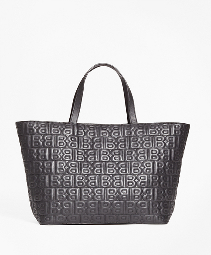 """""""BB"""" Quilted Leather Tote Bag"""