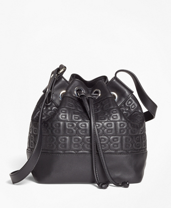 """""""BB"""" Quilted Leather Bucket Bag"""