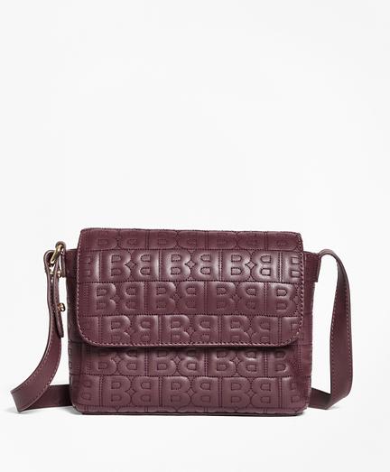 """BB"" Quilted Leather Shoulder Bag"