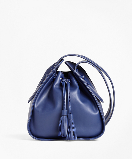 Leather Cross-body Bucket Bag